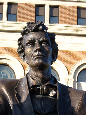 "Figure of Abraham Lincoln in ""Convergence of Purpose"" by sculptor Andrew Jumonville"